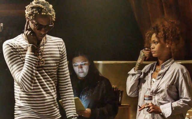 Rihanna Spotted At Video Shoot With Young Thug