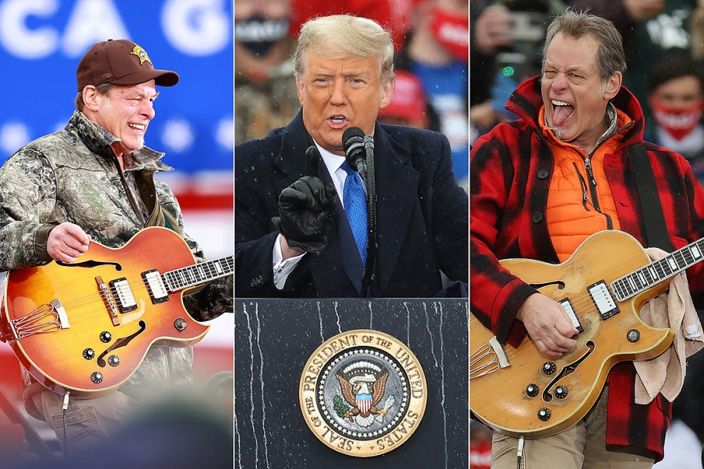 Watch: Ted Nugent Shreds National Anthem at Two Trump Rallies