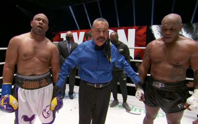 SOURCE SPORTS: Mike Tyson and Roy Jones Jr. Battle to An Entertaining Draw