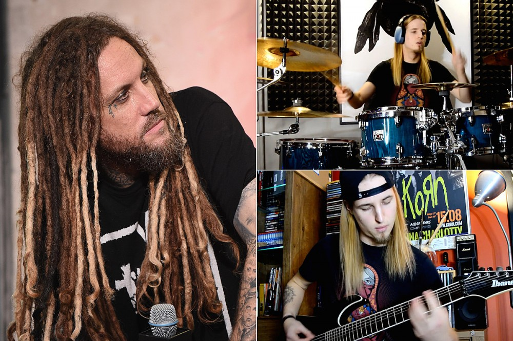 Man Plays Part of Every Korn Song Ever on Guitar + Drums in 10 Minutes