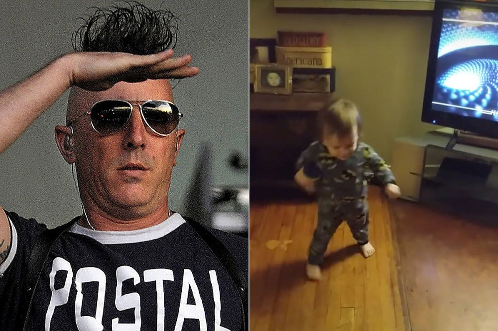 Adorable Toddler Loves Tool, Can't Stop Dancing