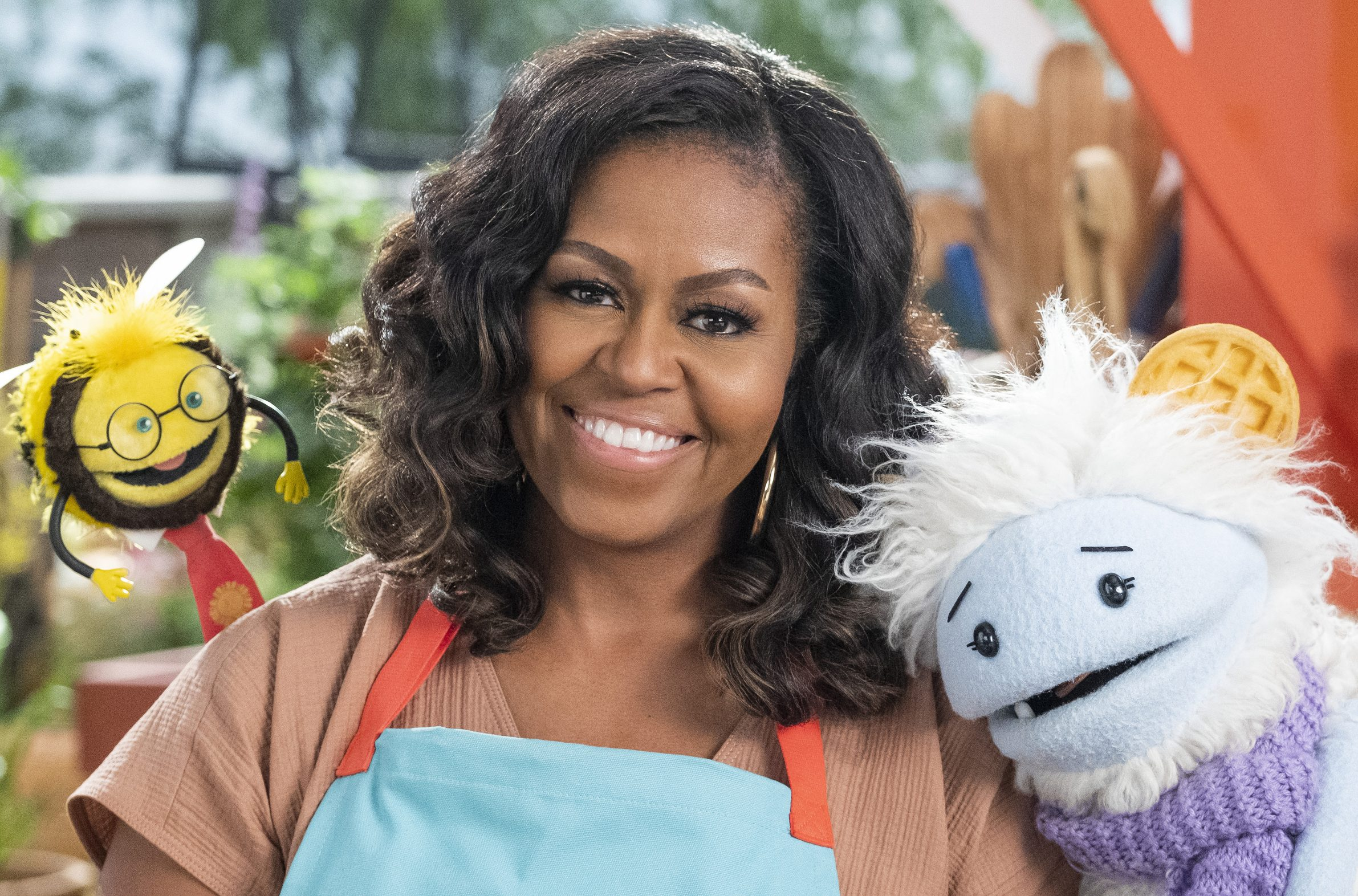 Michelle Obama Announces Netflix Children's Cooking Show 'Waffle + Mochi'