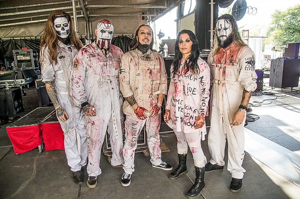 Lacuna Coil Stood in Silence Delivering Message During Livestream