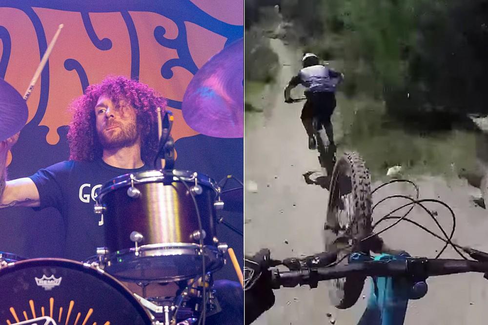 Dirty Honey Drummer Crashes Mountain Bike on Insane Ride – Watch Go Pro Footage