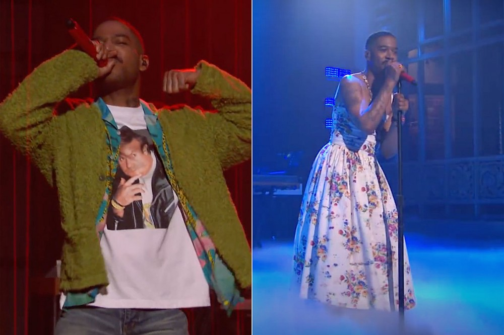 Kid Cudi Dons Dress + Green Cardigan to Honor Kurt Cobain on 'Saturday Night Live'