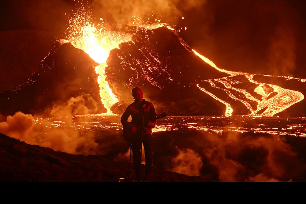 Kaleo's JJ Julius Son Performs 'Skinny' in Front of Erupting Volcano