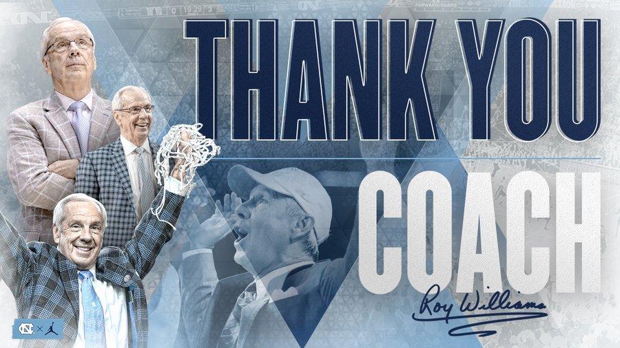SOURCE SPORTS: North Carolina Coach Roy Williams Announces Retirement