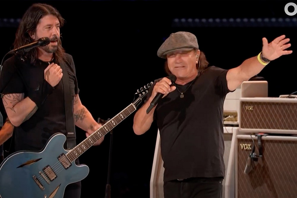 Foo Fighters Rock AC/DC With Brian Johnson at VAXLIVE Concert