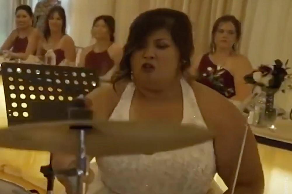 Watch Bride Rock a Killer Drum Solo at Her Wedding Reception