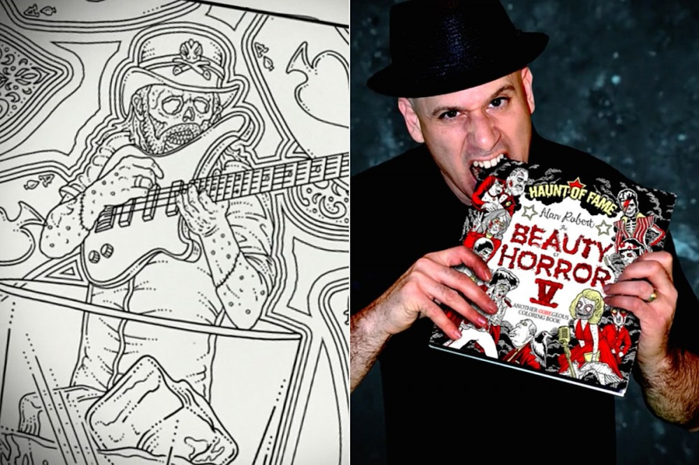 Life of Agony's Alan Robert Unveils 'Beauty of Horror 5 – Haunt of Fame' Coloring Book Feat. Lemmy + More