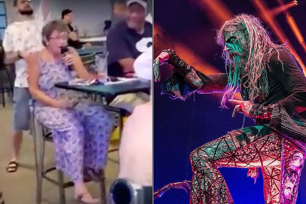 'Metal Grandma' Sings Rob Zombie's 'Dragula' at Karaoke, Crowd Goes Wild