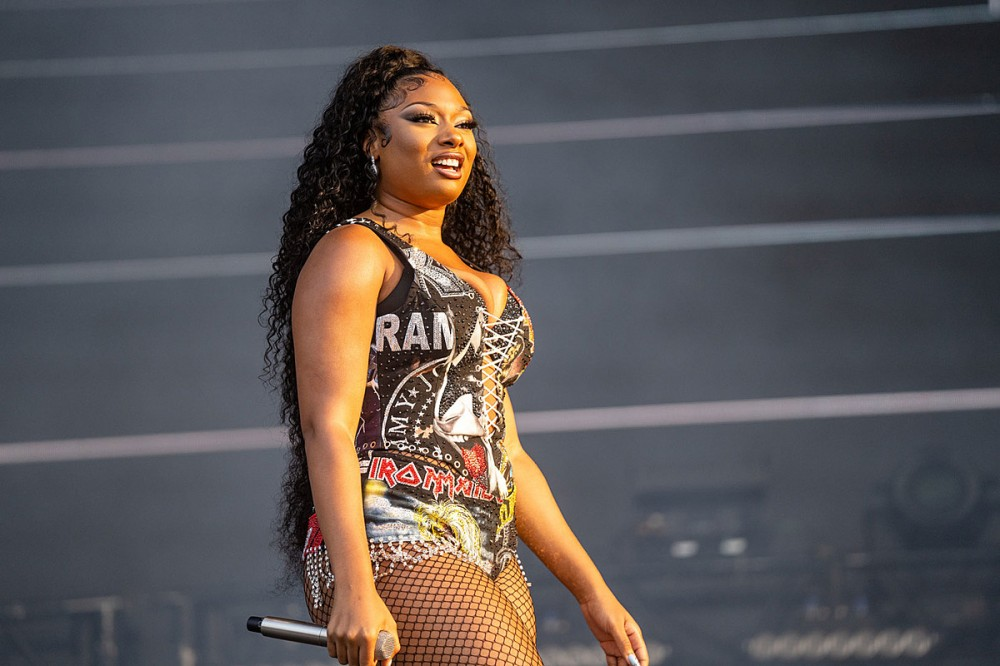 Megan Thee Stallion Wears Rock + Metal Inspired Outfit at Lollapalooza