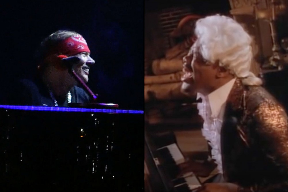 Axl Rose Salutes Rapper Biz Markie During Guns N' Roses New Jersey Show