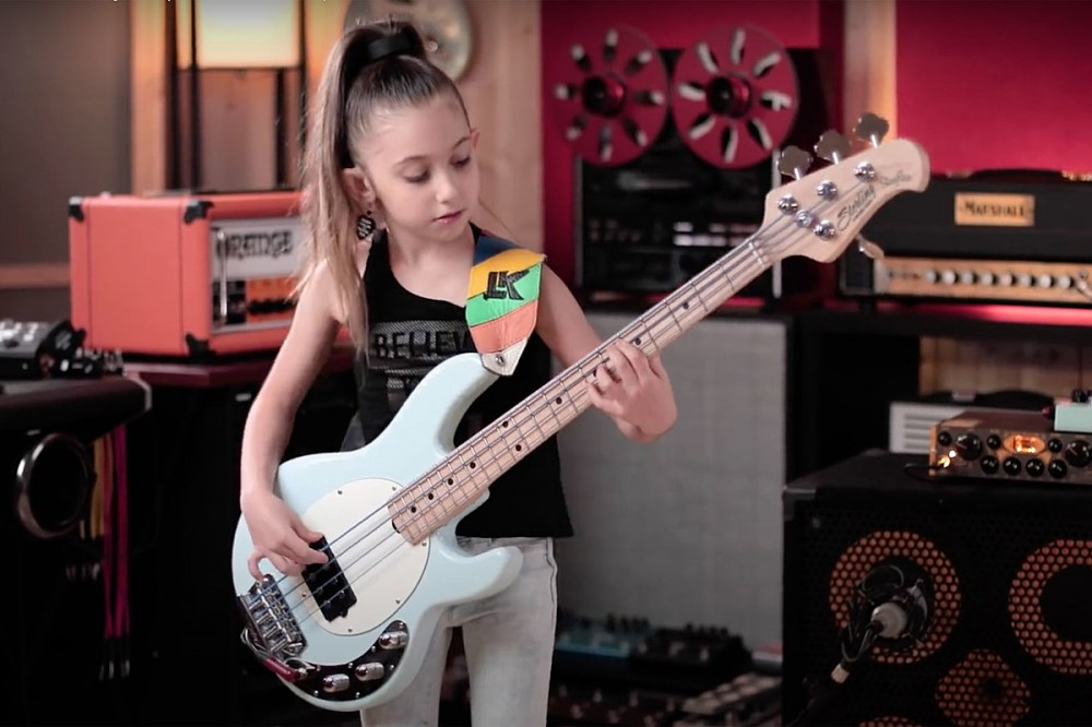 Watch a 9-Year-Old Girl Master Geddy Lee's Bass Parts on Rush's 'Tom Sawyer'