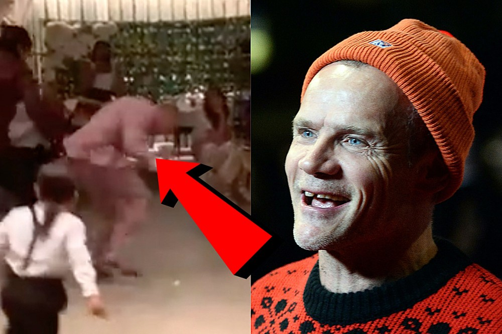 Flea Busts Some Huge Dances Move at His Friend's Wedding