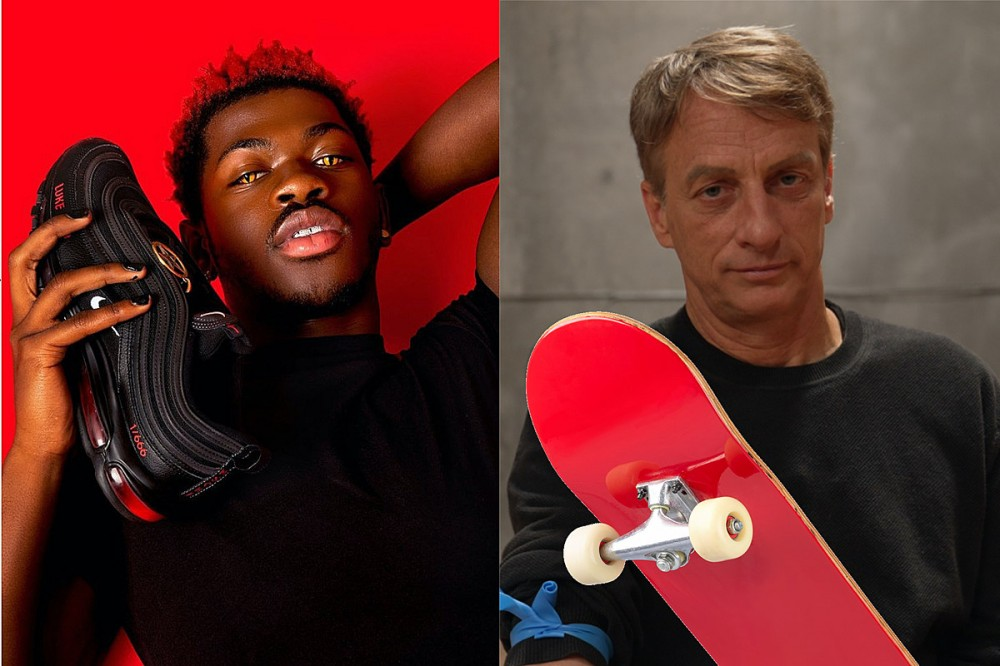 Lil Nas X Compares Outcry Over His 'Satan Shoes' to Tony Hawk's Blood Board