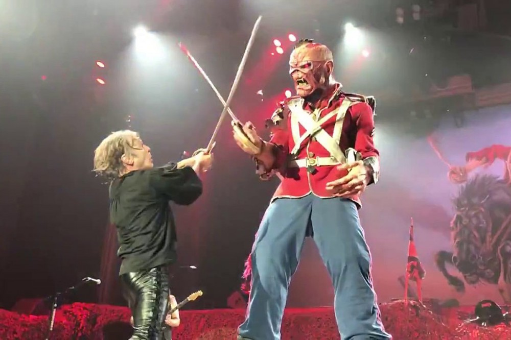 Iron Maiden's Bruce Dickinson Wants to Have an Onstage Lightsaber Battle With Eddie