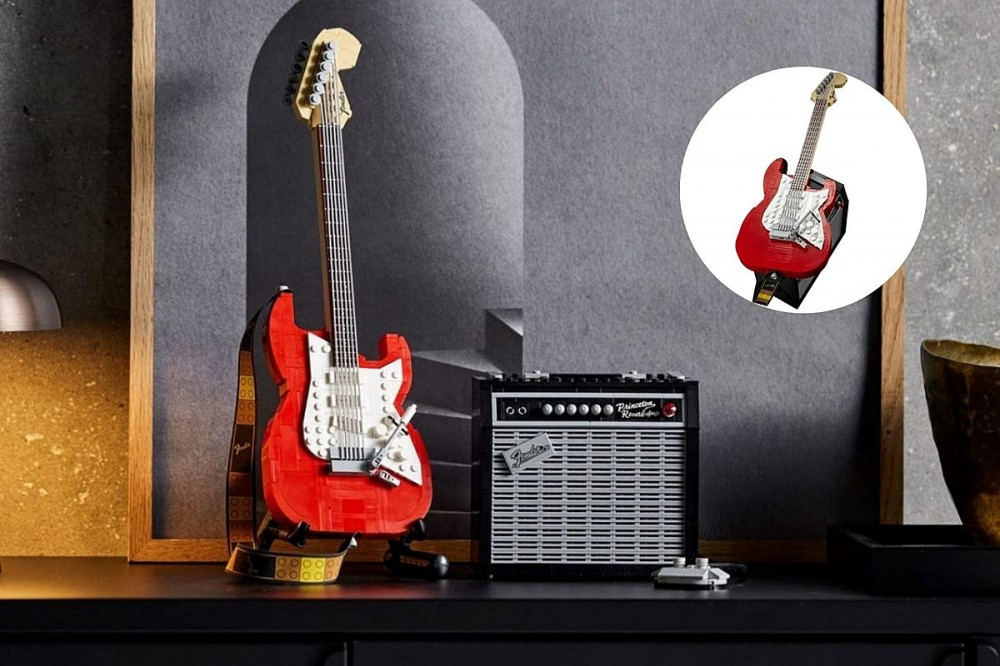 LEGO's Fender Stratocaster Set Comes Out Soon and It Is Sick