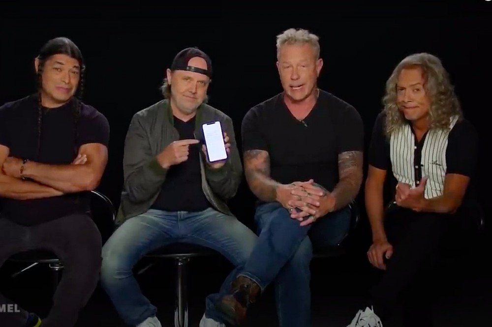 Watch Metallica Read Bad Reviews of 'The Black Album' on 'Jimmy Kimmel Live'
