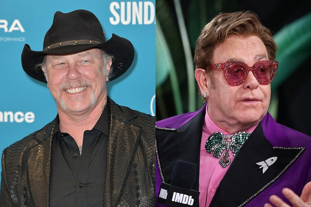 Watch: James Hetfield Brought to Tears Over Elton John Praise