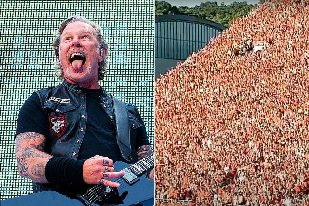 Virginia Tech's Seismographic 'Enter Sandman' Football Ritual Gave James Hetfield 'Goosebumps'