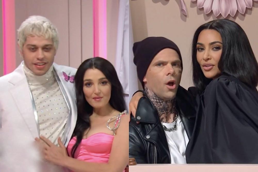 Machine Gun Kelly + Travis Barker Parodied in Kardashian-Powered 'SNL' Sketch