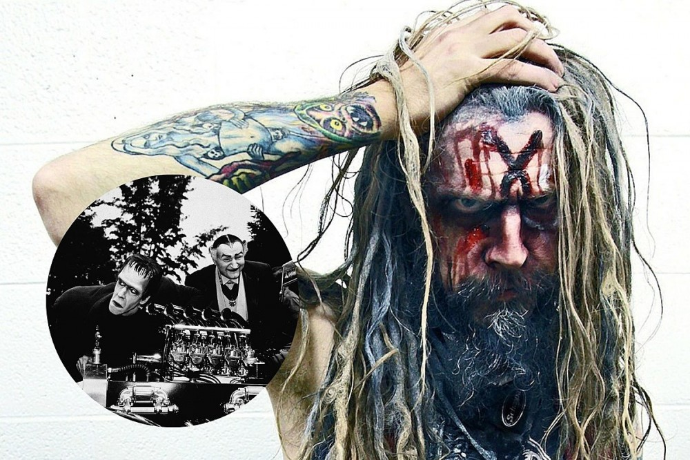 Rob Zombie Poses In Front of 1313 Mockingbird Lane House